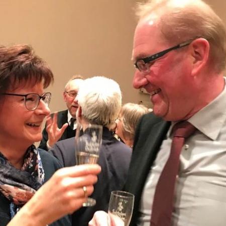 Martina Hoffmann (Bürgermeisterkandidatin Hochdorf-Assenheim) und Werner Baumann (Ortsbürgermeister Maxdorf)
